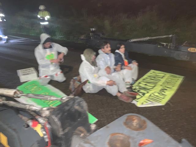 Blokkade van transport transformatoren van kolencentrale