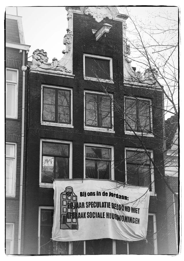 Flyer ontruiming Lauriergracht 73_foto
