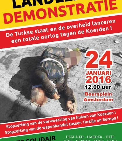 Landelijke demonstratie stop oorlog in oost turkije for Turkse kapper amsterdam oost