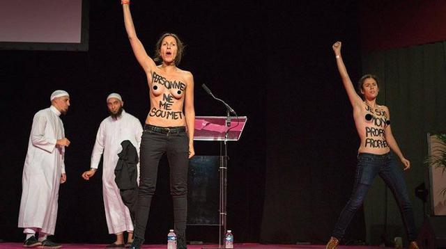Feministen verstoren moslimbijeenkomst indymedia - Salon de massage val d oise ...
