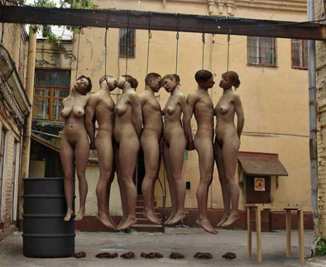 Curious.. nude girls executions hanging pics