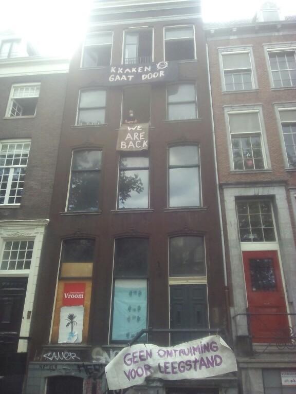 Pand gekraakt  in Amsterdam op de Keizersgracht nummer 318